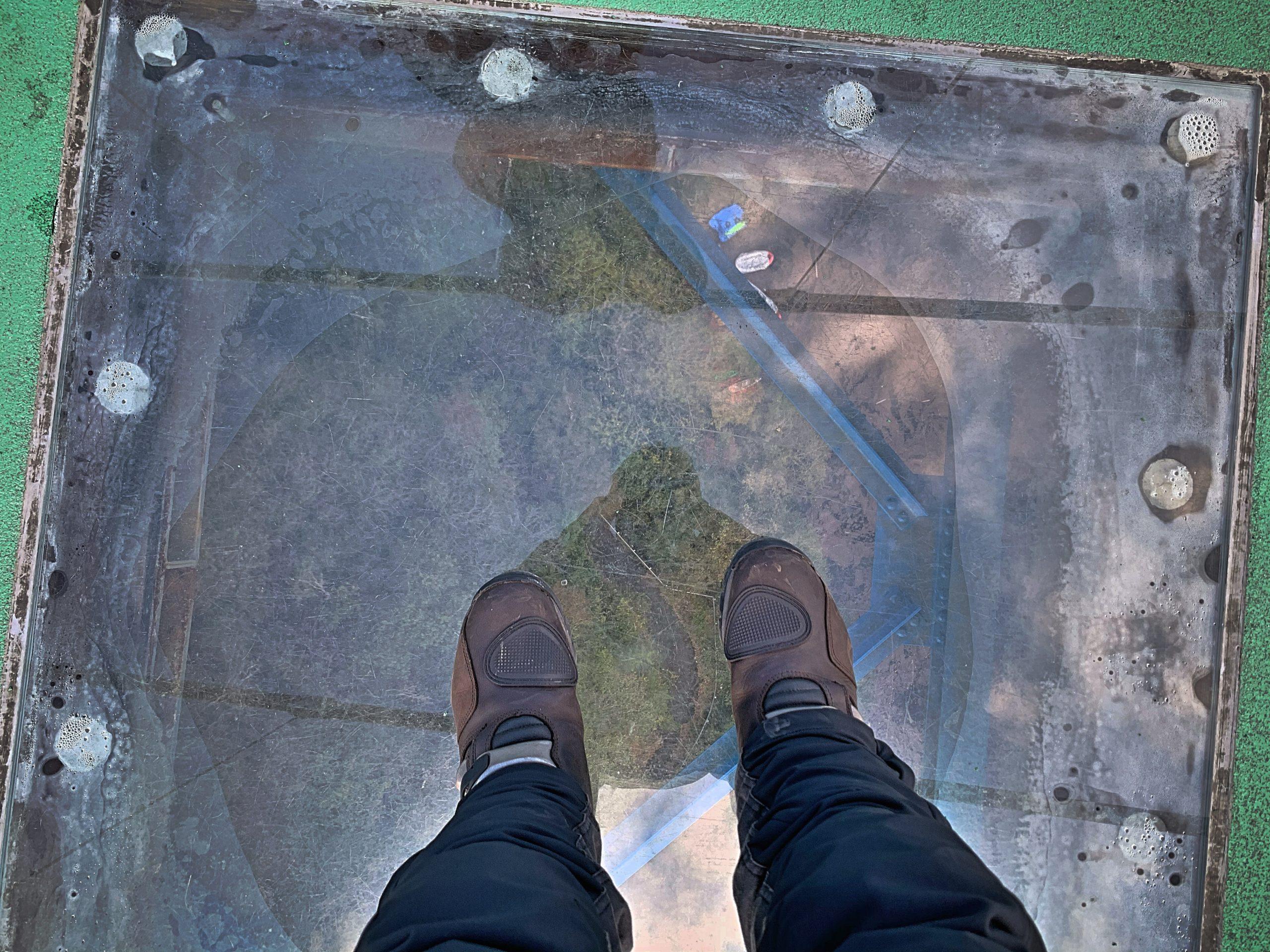 滝と吊橋とGSX250R